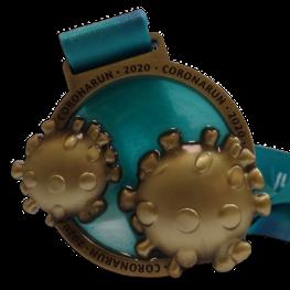 Virtual run medaille Corona Run