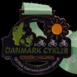 Virtual run medaille Danmark Cykler
