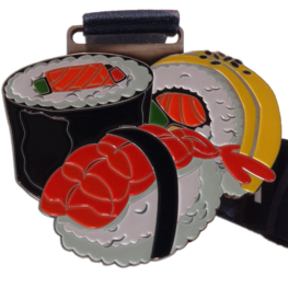 Virtual run medaille Sushi Challenge